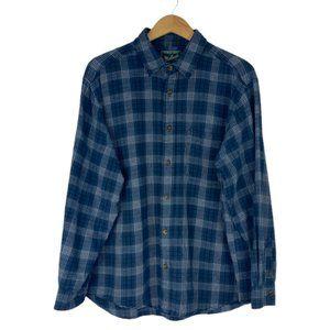 Woolrich Men's Blue Button Up Flannel Plaid Shirt Bluestone 6262 US XL
